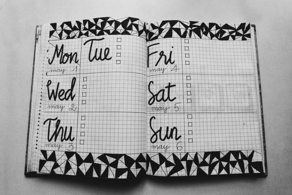 calendar curatenie
